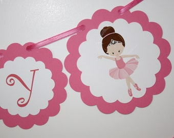 Ballerinas Birthday Banner READY TO SHIP Birthday Party Banner, Happy Birthday Party, Ballerina Party Decorations