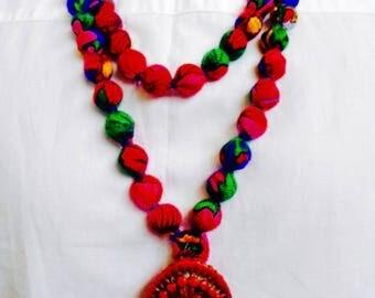 Folk Necklace big Ethnic beads Gipsy style Beads