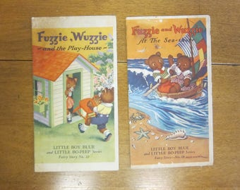 Vintage Advertising-Little Boy Blue and Little Bo Peep Fairy Story-John Puhl Products-Fuzzie, Wuzzie advertising series
