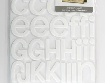 Thickers -- White or Black Foam Letter Stickers -- Rootbeer Float -- American Crafts -- Alphanumeric -- 42732