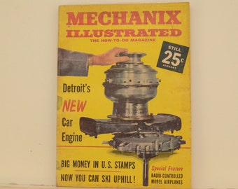 Mechanix Illustrated Magazine, January 1961 - Great Condition, Tips,  Science, Technology, Hundreds of Vintage Ads, Rare Cars, American Tech
