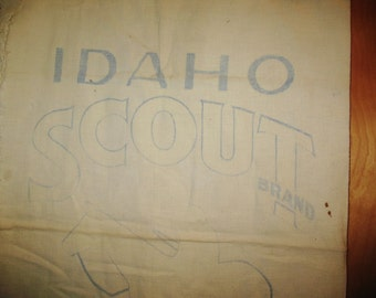 Idaho Scout (Horse) Brand Kansas City Mo Idaho Falls ID Swanson Brady CO. Potato Sack