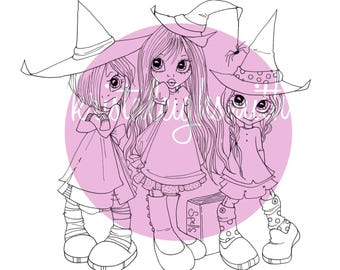 Halloween Digis 5er-Pack