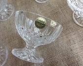 Set of 8 Cristal D'Arques Longchamps Compote Fruit Dessert Bowls Crystal Made in France