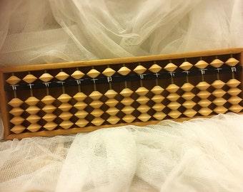 Vintage solid wood Japanese Soroban Abacus, Japanese Abacus, Solid wood Abacus