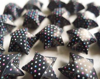 Tiny Dots Origami Stars - Wishing Stars/Home Decor/Party Supply/Embellishment