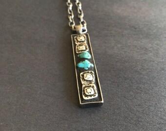 Mosaic, pendant, necklace