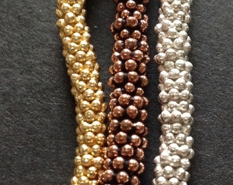 Gold, Copper or Silver Flower Spacers Set of 21 Your choice OR All Three Colors
