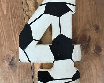Soccer Wall Decor, Soccer Letter, Personalized Soccer Sign, Soccer Baby Shower, Soccer Room, Baby Shower Decor