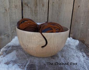 Maple Yarn Bowl, Wooden Yarn Bowl