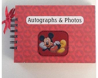 Disney Mickey Mouse & Friends Pre Made Chipboard Autograph Scrapbook Album * Just Add Photos *