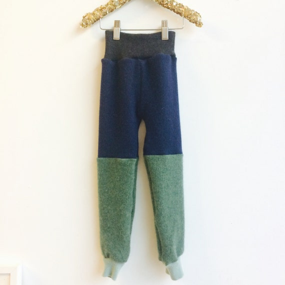 CRAWLER 5-6 Years Kids Cashmere Leggings Pyjama Bottoms Joggers Trousers Sweat Pants in Upcycled Cashmere Unisex