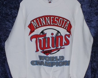 White 1987 Minnesota Twins World Champions Sweatshirt Medium