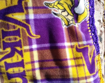 Minnesota Vikings Crocheted Fleece Baby Blanket
