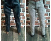 A Lot of 2 Dress Trouser Pants for Curvy Barbie or similar size fashion doll