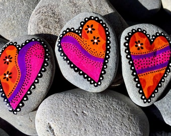 I Love You More / rock magnets / refrigerator magnets /fridge magnets / painted rocks / painted stones / rock art / painted rock magnets