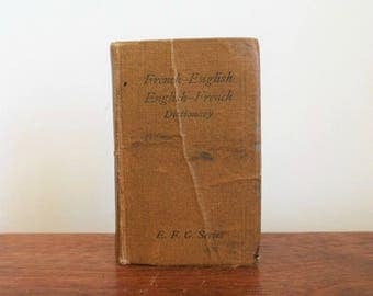 French-English and English-French E.F.G. Series Pocket Dictionary Old Hardcover Travel Reference