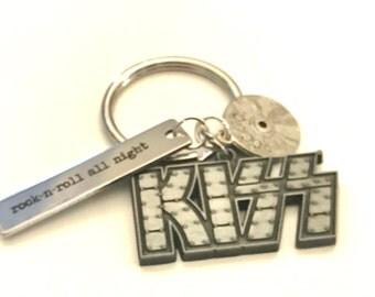 kiss keychain etsy. Black Bedroom Furniture Sets. Home Design Ideas