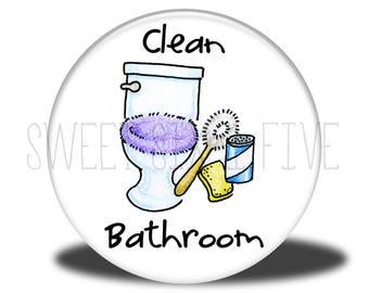 Clean Bathroom - Chore Magnet