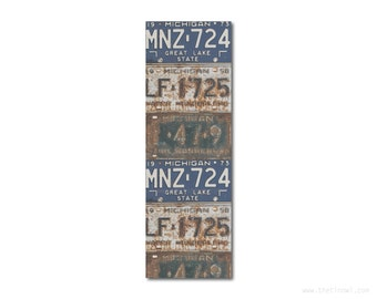 Bookmark Michigan License Plates | Stocking Stuffer | Gifts Under 5 | Book Lover | Michigan Pride