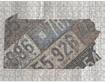 Pennsylvania Jigsaw Puzzle | Vintage License Plate Art | State Outline | Fun Puzzle