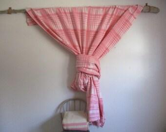 Pink double long Cotton Camp Blanket for Home Camping Utility Vintage Winter Cabin blanket Camper Spread Modern home Cabin Cottage