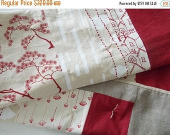 FLASH QUILT SALE Modern Hemp Quilt - Screen Print Quilt - Organic Baby Quilt