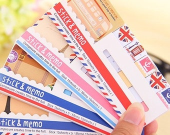 Cute Sticky Notes Bookmark Notepad Kawaii Sticky Notes Stickers
