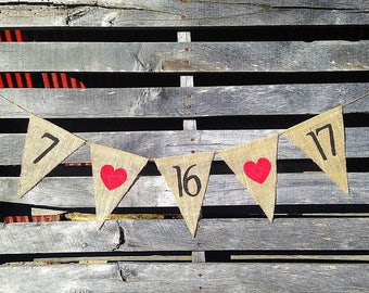 Save the Date Burlap Banner, Burlap Save The Date, Save The Date Burlap, Engagement Banner, Engagement Photo Prop, Burlap Wedding Banner