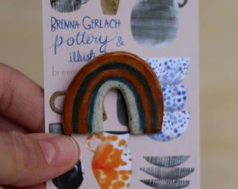 Brownbow porcelain brooch
