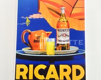 ON HOLD FOR H Wall Decor Vintage Travel Tile Drink Ricard Wall Tile