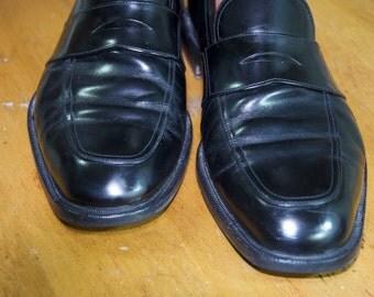 Authentic Salvatore Ferragamo Black Leather Loafers