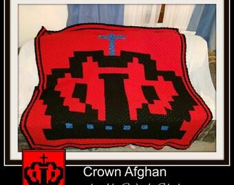 Crown Afghan, C2C Graph, Crochet Pattern