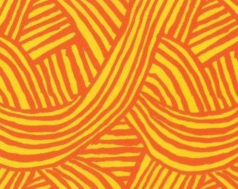 Artisan by Kaffe Fassett for Free Spirit - Raked - Pumpkin Orange - FQ - Fat Quarter Cotton Quilt Fabric  1116