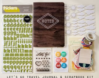 SALE Let's Go Journal and Scrapbook Kit