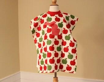 Toddler Towel Bib - Michigan Applique - Red Green Apple