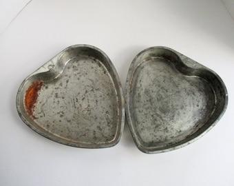 Vintage Heart Pans Ekco Ovenex Baking Pans Set of 2