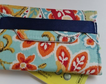 Birth Control Case Sleeve- Orange/red flowers