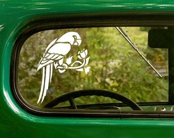 Parrot Decal, Parrot Sticker, Bird Decal, Car Decal, Vinyl Sticker, Animal, Car Stickers, Laptop Sticker, Vinyl Decal