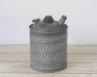 Vintage 2 Gallon Gas Can Fuel Can Gasoline  #3