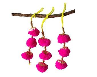 Pink and Gold Camel Decoration - Boho Tassel 1 Pair / Embellishment / Decoration / Women Dress Tassels