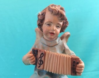 Anri Angel Music Box Silent night  Reuge Vintage