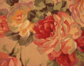 Vintage Drapery Upholstery Fabric Material