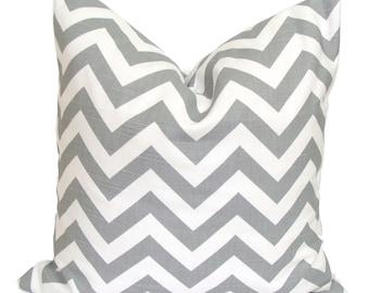 Gray Pillows, Gray Chevron Pillows, Grey Pillow Cover, Decorative Pillow, Gray Throw Pillow, Grey Pillow, All Sizes, Chevron Euro, Cushion