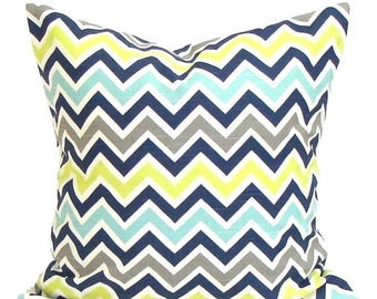 BLUE GREEN PILLOW Sale.14x14 inch Decorative Pillow Cover.Blue Green Accent Pillow. Throw Pillow. Couch Pillow. Cushion Cover. cm