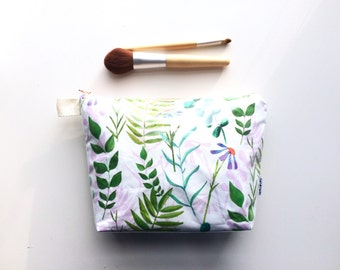 Happy Plants Divided Flat Bottom Pouch Medium (handmade philosophy's pattern)