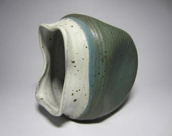 Awesome Signed Freeform 1970'S Studio Pottery Vase Vessel