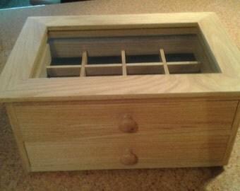 Oak jewelry display box