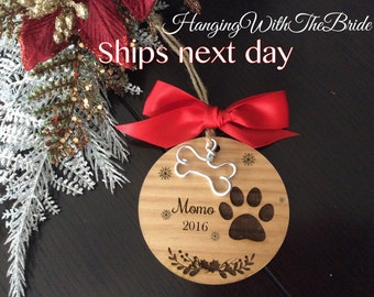 Puppy christmas gift montage