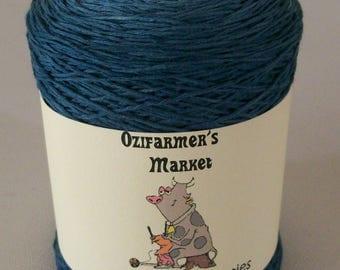 Cotton Lace Cuties.  Gradient hand-dyed denim blue/grey laceweight cotton. 50gm.  Denim